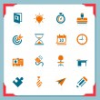 Business and office icons | In a frame series — Stock Vector