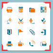 Stock Vector: Office icons | In a frame series