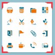 Stock Vector: Office icons | In frame series