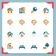 Real estate icons | In a frame series — Stock Vector