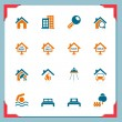 Real estate icons | In a frame series - Stock Vector