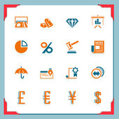 Financial icons | In a frame series — Stock Vector