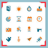 Business and office icons | In a frame series — Wektor stockowy