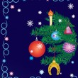 Background with New Years tree.Merry Christmas. — Stockfoto #6904608