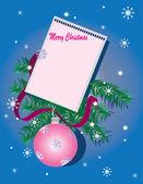 Feliz natal, plano de fundo azul escuro. — Fotografia Stock