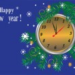 Happy new year,merry christmas,blue background,holiday, — Stock Photo #7294263