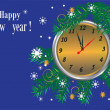Happy new year,merry christmas,blue background,holiday, — Stock Photo