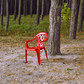 The red chair. — Stock Photo