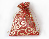 Small red decorative bag — Stock Photo