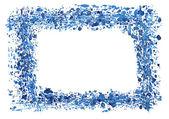 Watercolor frame border — Stock Vector
