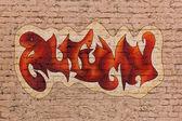 Autumn graffiti — Stock Photo