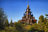 Orthodoxe Holzkirche — Stock Photo