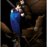Nativity scene. — Stock Vector