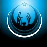 Nativity scene icon — Stock Vector