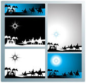 Nativity banners and letter — Stock Vector
