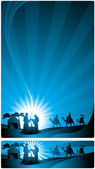 Banner nativity scene — Stock Vector