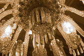 Chandelier in the Main Entrance Hall - close Up — Stock Photo