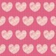 Vector abstract seamless pattern with hearts — Stock Vector #7284866