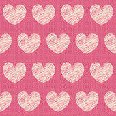 Vector abstract seamless pattern with hearts — Stock Vector