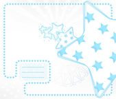 Vector kid card with stars — Stock Vector