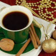 Stock Photo: Christmas coffee