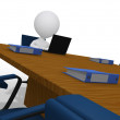 3d businessmwaiting in meeting room in corporate office — Stock Photo #6792696