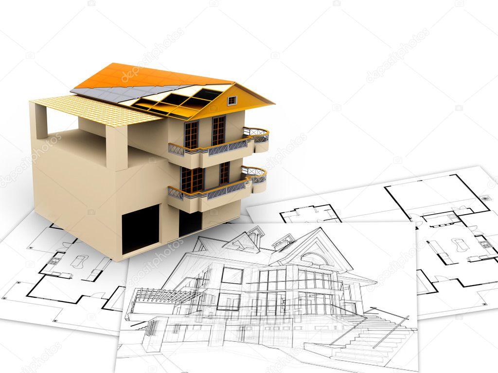 3d imagen architecture concept stock photo dacasdo for Notion architecture