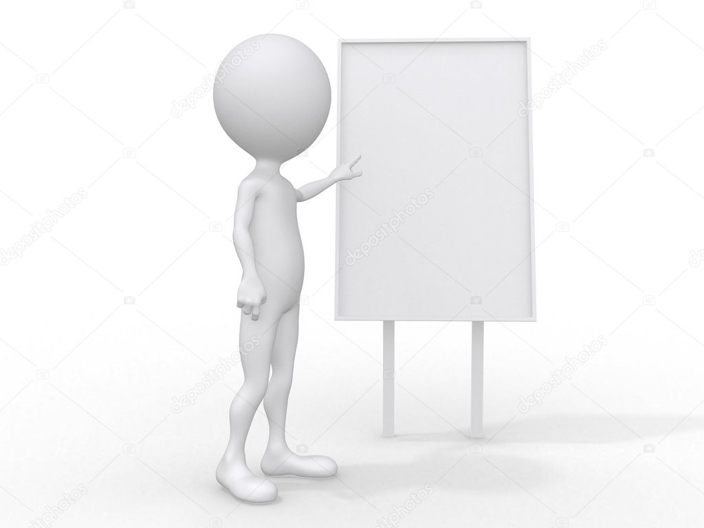 3d single adult business man in the meeting   Stock Photo #6790463