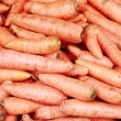 Background of fresh young carrots. — Stock Photo #6899029
