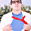 Stylized superhero businessman — Stock Photo #6966038