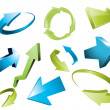 3d arrows, 3d arrow sketchy design elements set — Stock Photo #6995246