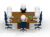 Business group meeting portrait - eight business working — Stock Photo