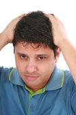 Portrait of young sad man worrying or having pain — Zdjęcie stockowe