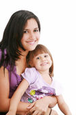 Portrait of a smiling mother and her daughter — Stock Photo