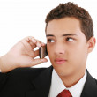 Close-up of attractive young businessman on cellphone. Nineteen — Stock Photo #7890620