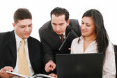 Young business group have meeting and have discusion abou — Stock Photo