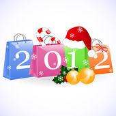 Christmas shopping bags — Stock Vector