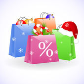 Christmas shopping bags — Vecteur