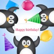 Royalty-Free Stock Vector Image: Penguin with greeting