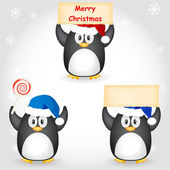 Christmas penguin — Stockvector