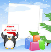 Christmas greeting card with place for your text — Stok Vektör