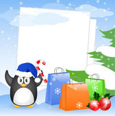 Christmas greeting card with place for your text — Cтоковый вектор