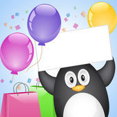 Penguin with surprise — Vector de stock