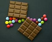 巧克力和巧克力糖果 — 图库照片