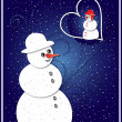 Merry Christmas and Happy New Year - greeting card — 图库照片