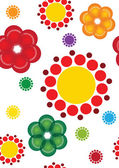 Colourful circuit flowera — Stock Photo