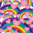 Royalty-Free Stock Photo: Rainbows and hearts
