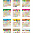Kids calendar for 2012 - Stock Vector