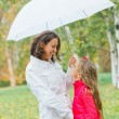 Cute girl with her mother walking in park — Stock Photo #7195688