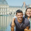 Young Couple Walking in Fontainebleau — Stock Photo #7196121